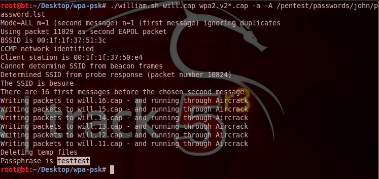 William Wpawpa2 4 Way Handshake Extraction Script Explore Security